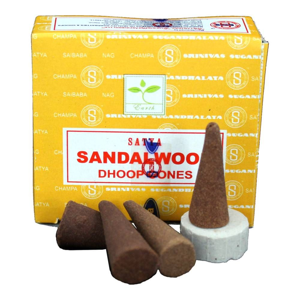 Räucherkegel - Satya Sandalwood 20g